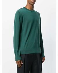 Jersey con cuello circular verde de Lanvin