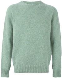 Jersey con cuello circular verde de Polo Ralph Lauren
