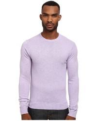 Jersey con cuello circular violeta claro