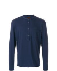 Jersey con cuello henley azul marino de Barena