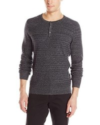 Jersey con cuello henley en gris oscuro de Kenneth Cole New York