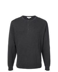 Jersey con cuello henley negro de Alex Mill