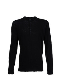 Jersey con cuello henley negro de ATM Anthony Thomas Melillo