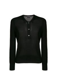 Jersey con cuello henley negro de Tom Ford