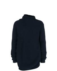 Jersey con cuello vuelto holgado azul marino de Jil Sander