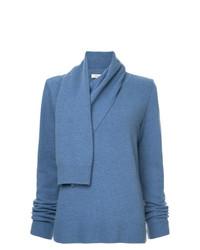 Jersey con cuello vuelto holgado azul de Goen.J