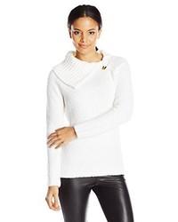 Jersey con cuello vuelto holgado blanco de Calvin Klein