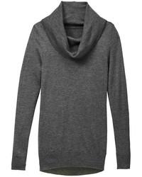 Jersey con cuello vuelto holgado en gris oscuro