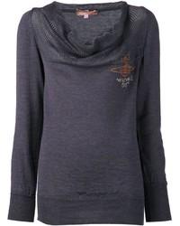 Jersey con cuello vuelto holgado en gris oscuro de Vivienne Westwood