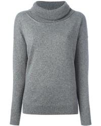 Jersey con cuello vuelto holgado gris de Blumarine