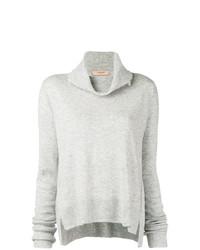 Jersey con cuello vuelto holgado gris de Twin-Set