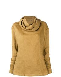 Jersey con cuello vuelto holgado marrón claro de Nehera