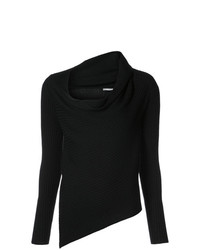 Jersey con cuello vuelto holgado negro de Tome