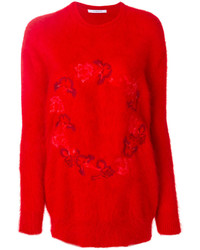 Jersey con print de flores rojo de Givenchy