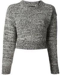 Jersey corto de punto gris