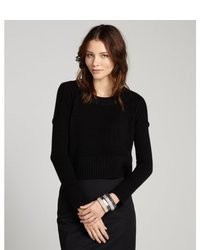 Jersey corto de punto negro