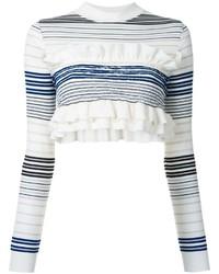 Jersey corto de rayas horizontales en blanco y azul marino de Stella McCartney