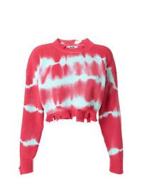 Jersey corto efecto teñido anudado rosa de MSGM