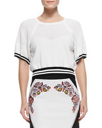 Jersey corto en blanco y negro