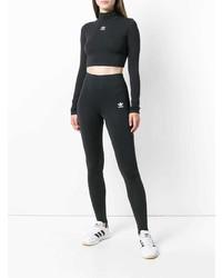 Jersey corto estampado en negro y blanco de adidas