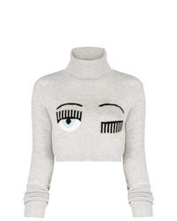 Jersey corto estampado gris de Chiara Ferragni