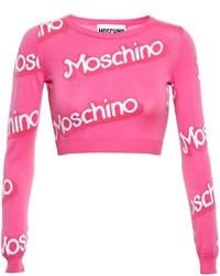 Jersey corto estampado rosa de Moschino