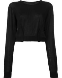 Jersey corto negro de Haider Ackermann