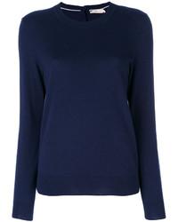 Jersey de cachemir azul marino de Tory Burch