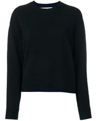 Jersey de cachemir negro de Diane von Furstenberg