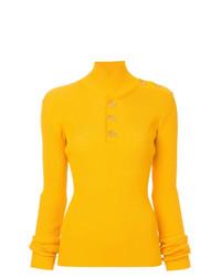 Jersey de cuello alto amarillo de Dion Lee