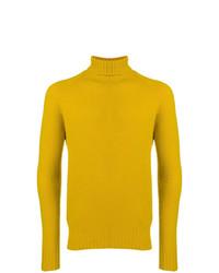 Jersey de cuello alto amarillo de Drumohr