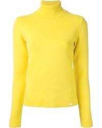 Jersey de cuello alto amarillo de DSquared