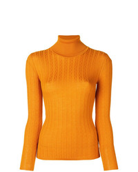 Jersey de cuello alto amarillo de M Missoni