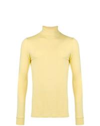 Jersey de cuello alto amarillo de Raf Simons