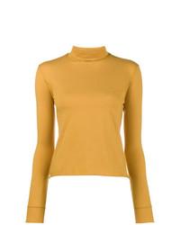 Jersey de cuello alto amarillo de Simon Miller