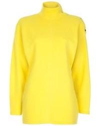 Jersey de cuello alto amarillo de Thierry Mugler