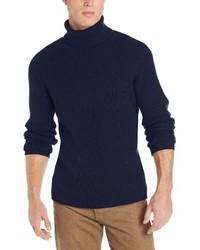 Jersey de cuello alto azul marino de Alex Stevens