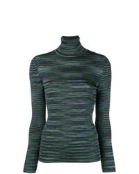 Jersey de cuello alto azul marino de M Missoni