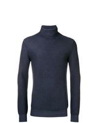 Jersey de cuello alto azul marino de Paolo Pecora