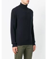 Jersey de cuello alto azul marino de Massimo Alba