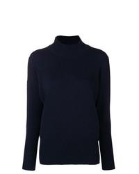 Jersey de cuello alto azul marino de Peserico