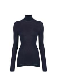Jersey de cuello alto azul marino de Prada