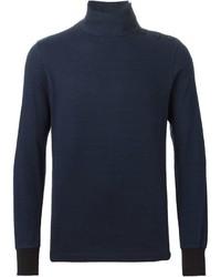 Jersey de cuello alto azul marino de Sacai