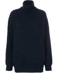 Jersey de cuello alto azul marino de Stella McCartney