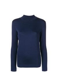 Jersey de cuello alto azul marino de Stephan Schneider