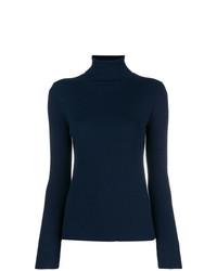 Jersey de cuello alto azul marino de Tory Burch