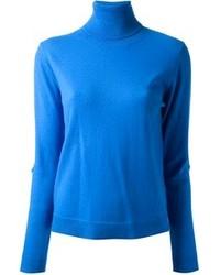 Jersey de cuello alto azul de Carin Wester