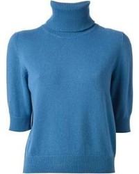Jersey de Cuello Alto Azul de Dolce & Gabbana