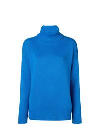 Jersey de cuello alto azul de Etro