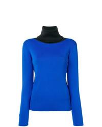 Jersey de cuello alto azul de Simon Miller